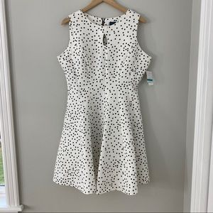 Gabby Skye Keyhole Polka Dot Dress